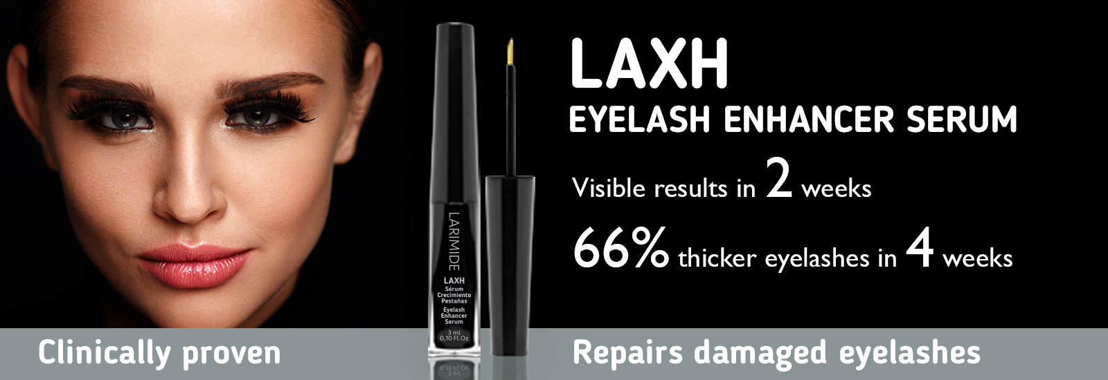 banner lEyelash Enhancer Serum LAXH larimide